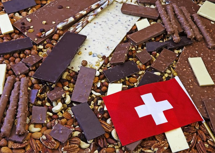 Chocolate Greeting Card featuring the photograph Swiss Chocolate by Joana Kruse