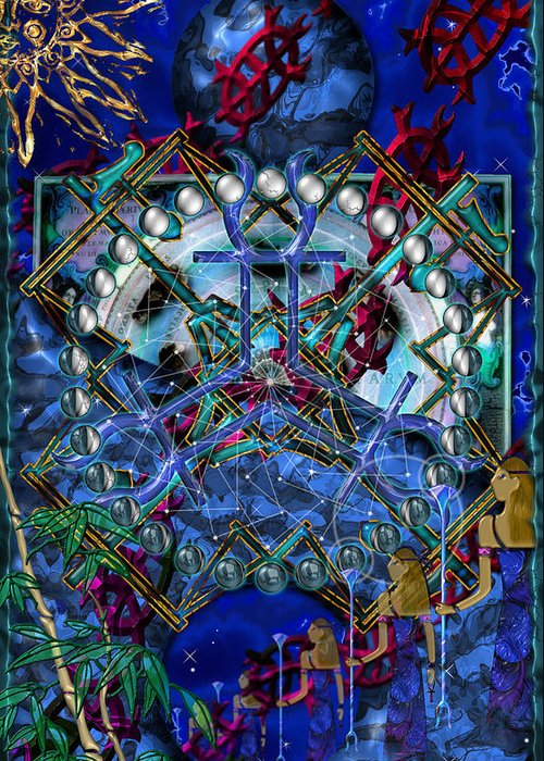 Symagery Greeting Card featuring the digital art Symagery 32 by Kenneth Armand Johnson