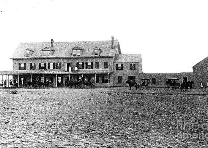 The Taft Hotel Greeting Card featuring the photograph Taft's Hotel 1830 by Extrospection Art