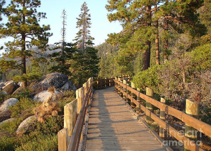 Lake Tahoe Greeting Card featuring the photograph Tahoe Bridge by Silvie Kendall