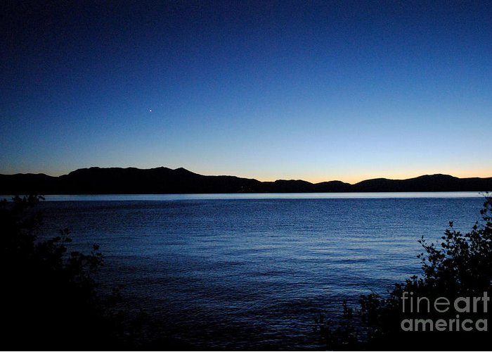 Sunset Greeting Card featuring the Tahoe Sunset by Sean McGuire