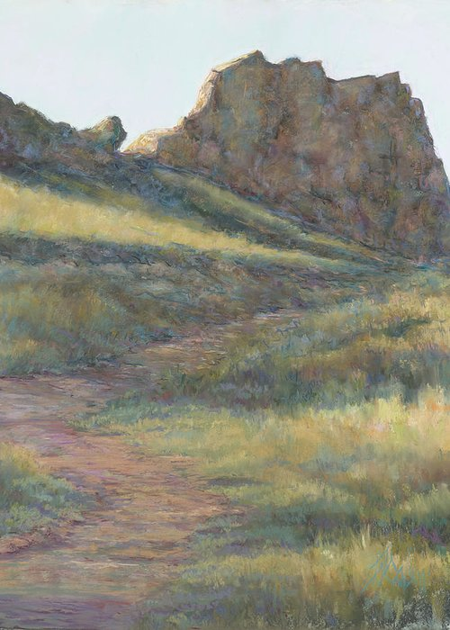 Loveland Hiking Trail Greeting Card featuring the painting Take a Hike by Billie Colson