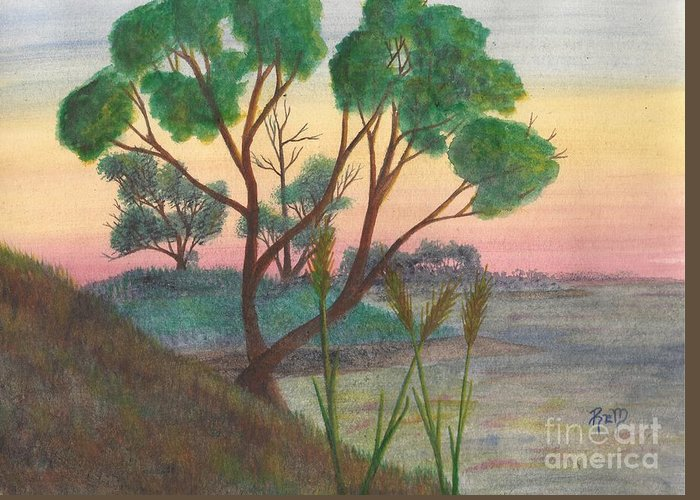 Watercolor Greeting Card featuring the painting Taking A Moment... by Robert Meszaros