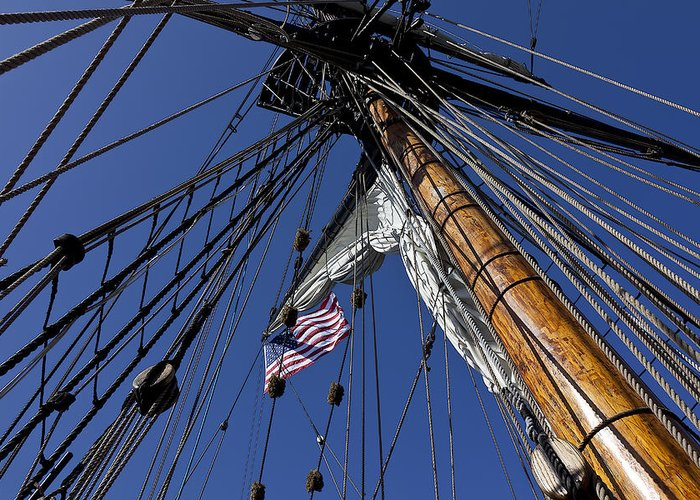 American Greeting Card featuring the photograph Tall Ship Rigging by Garry Gay