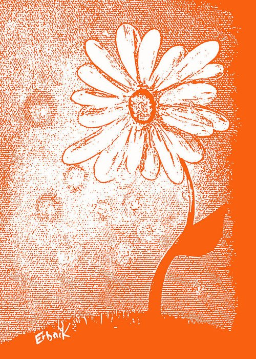 Daisies Greeting Card featuring the painting Tangerine Daisy By Shawna Erback by Shawna Erback