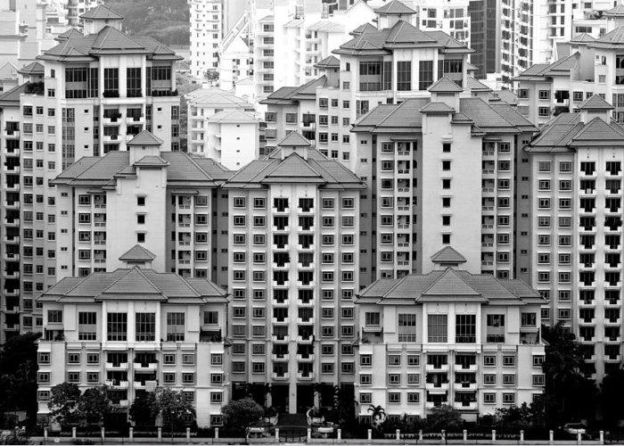 Condominium Greeting Card featuring the photograph Tanjong Rhu Condo by Glen Goh