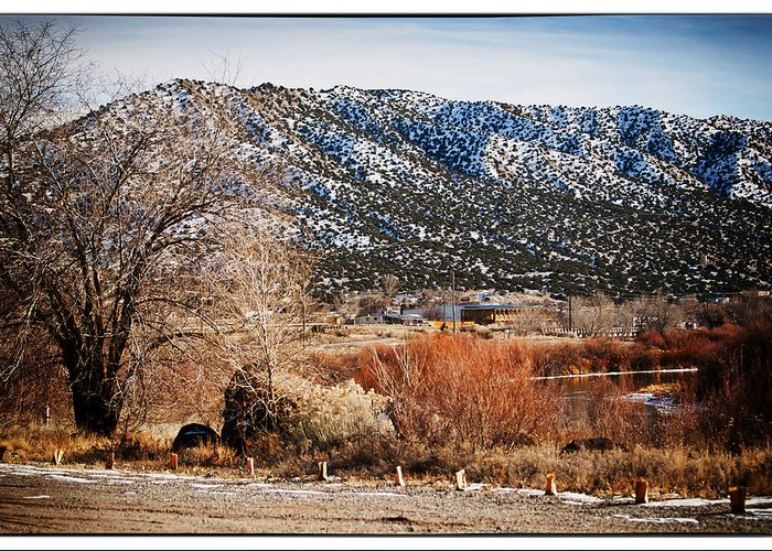 Taos Greeting Card featuring the photograph Taos Mountain View 1 by Lisa Spencer