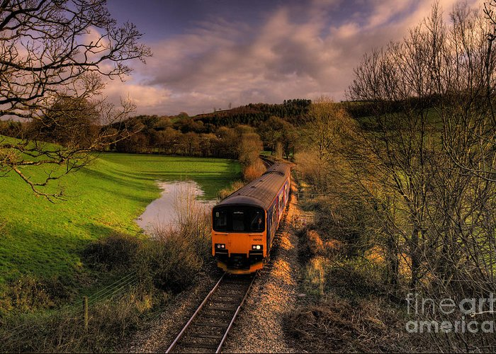 Train Greeting Card featuring the photograph Taw Valley by Rob Hawkins