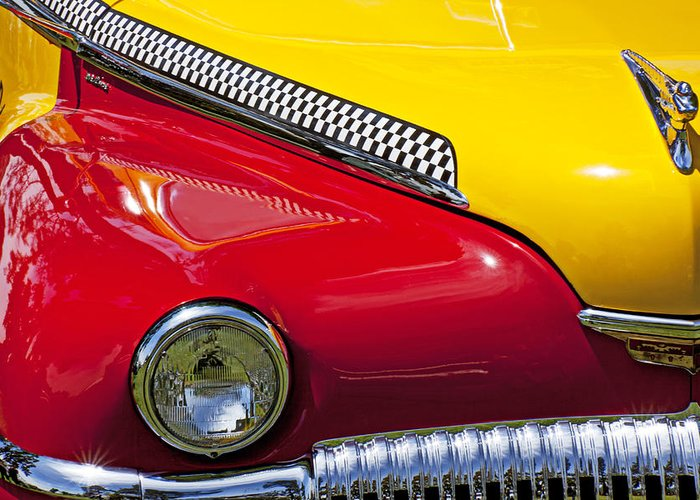 Taxi Greeting Card featuring the photograph Taxi De Soto by Garry Gay
