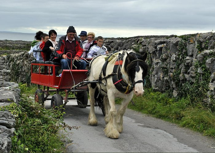 Aran Islands Greeting Card featuring the photograph Taxi by Joe Ormonde