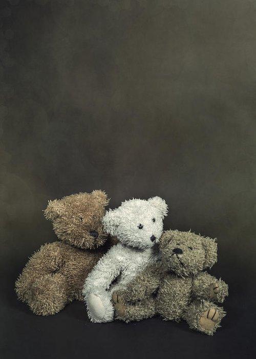 Teddy Greeting Card featuring the photograph Teddy Bear Family by Joana Kruse