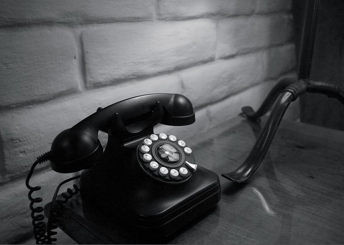 Rotary Phone Greeting Card featuring the photograph Telecommunications by Dietrich Sauer