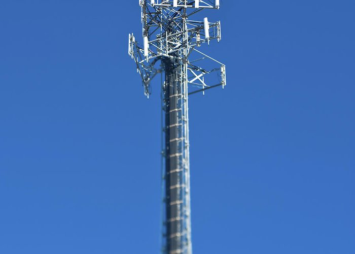 Architectural Detail Greeting Card featuring the photograph Telecommunications Tower by Eddy Joaquim