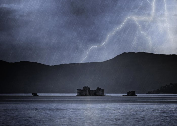 Lake Maggiore Greeting Card featuring the photograph Tempest by Joana Kruse