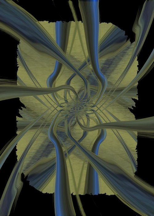 Abstract Greeting Card featuring the digital art Tendrils by Tim Allen