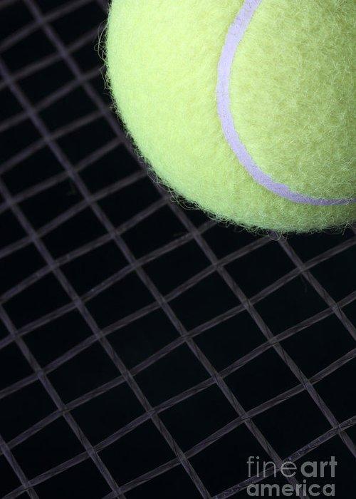 Tennis Greeting Card featuring the photograph Tennis Anyone by John Van Decker
