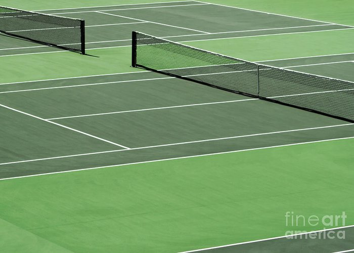 Sport Greeting Card featuring the photograph Tennis Court by Blink Images