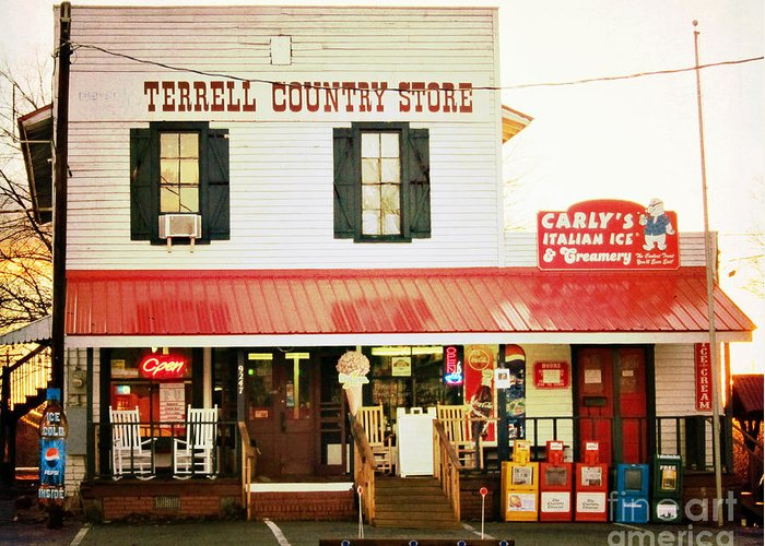 Terrell Country Store Greeting Card featuring the photograph Terrell North Carolina by Kim Fearheiley