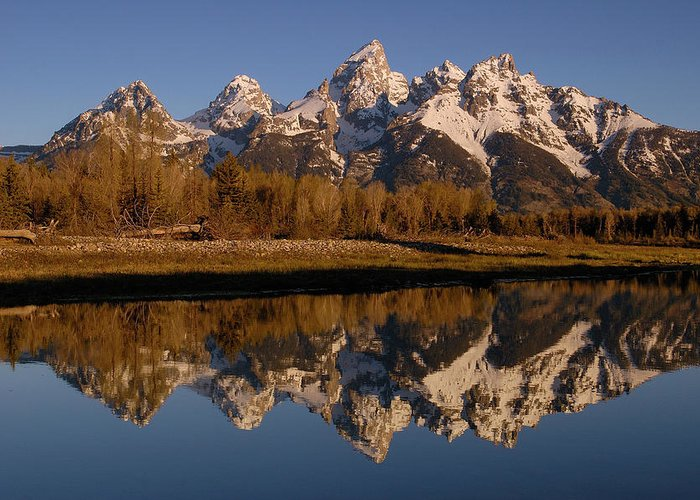 Mp Greeting Card featuring the photograph Teton Range, Grand Teton National Park by Pete Oxford