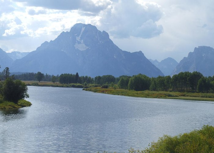 Landscape Greeting Card featuring the photograph Teton Splendour by Wendy Hope