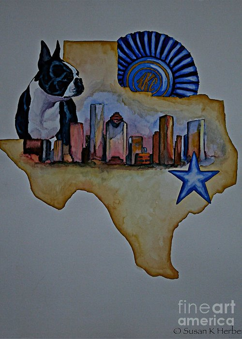 Greeting Card featuring the painting Texas Bound 3 by Susan Herber