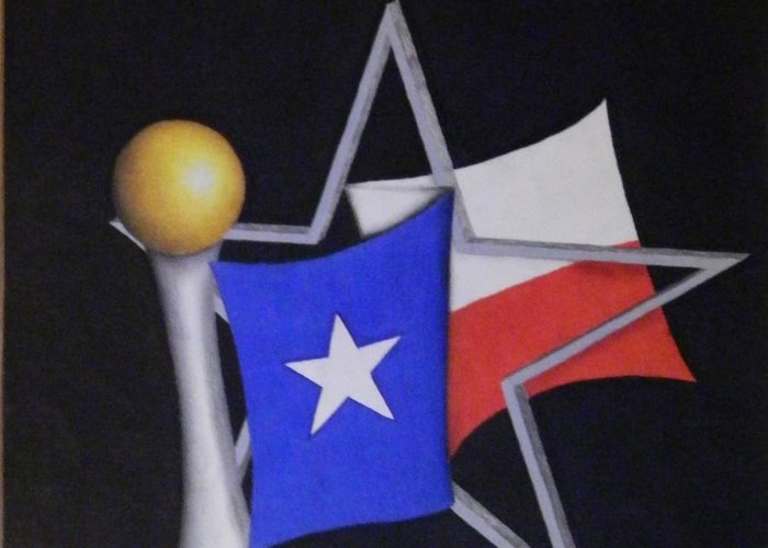 Texas Greeting Card featuring the drawing Texas by Jose Benavides
