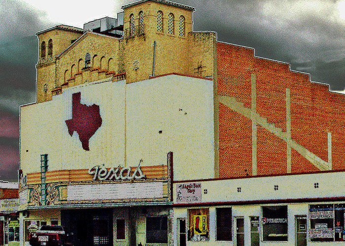 Texas Greeting Card featuring the photograph Texas Theater II by Louis Nugent