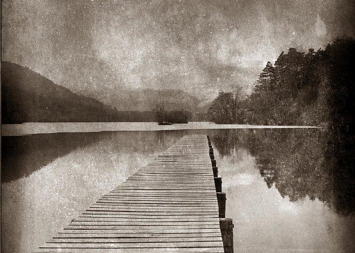 Close Up Greeting Card featuring the photograph Textured Lake by Bernard Jaubert