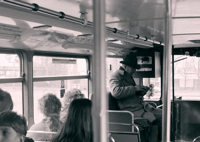 Bus Greeting Card featuring the photograph The 104 by Kevin Duke