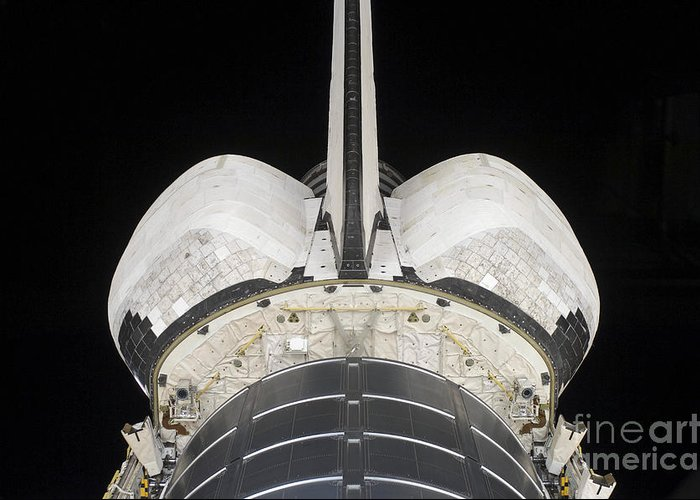 Sts-126 Greeting Card featuring the photograph The Aft Portion Of The Space Shuttle by Stocktrek Images