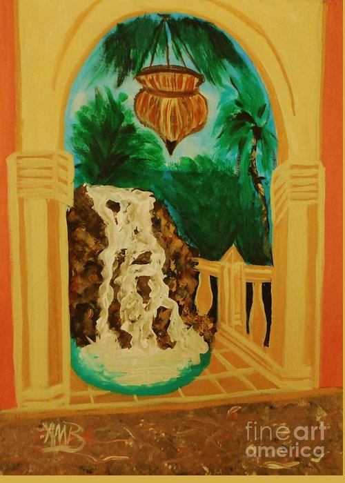 Greeting Card featuring the painting The Archway by Marie Bulger