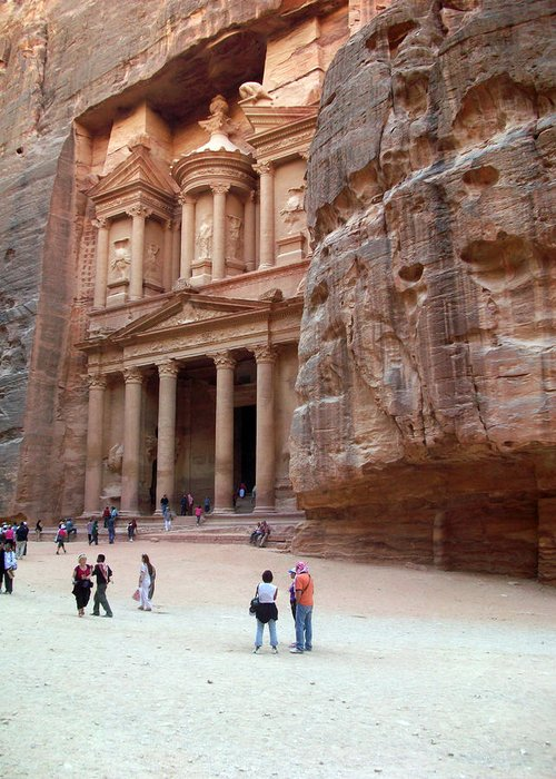 Petra Greeting Card featuring the photograph The Bank by Munir Alawi