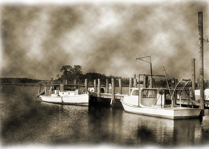Boats Greeting Card featuring the photograph The Bayou by Barry Jones