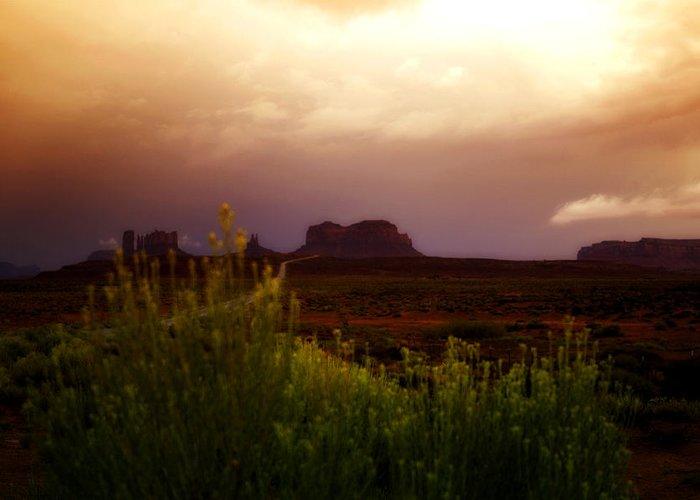 Desert Greeting Card featuring the photograph The Beauty Of A Desert Sunset by Ellen Heaverlo