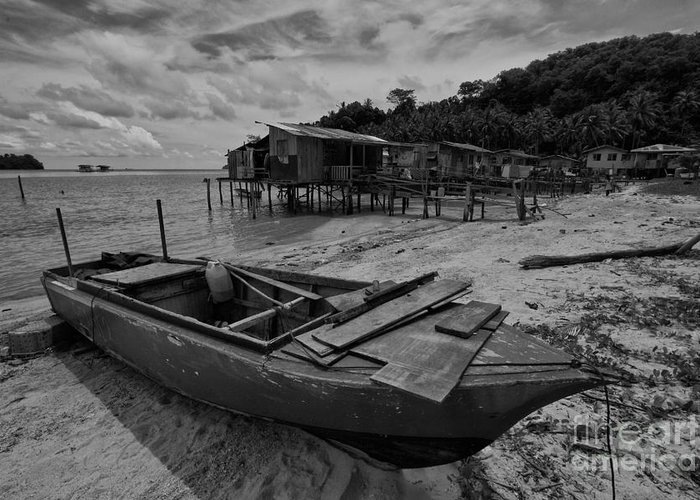 Borneo Greeting Card featuring the photograph The Boat by Gary Bridger