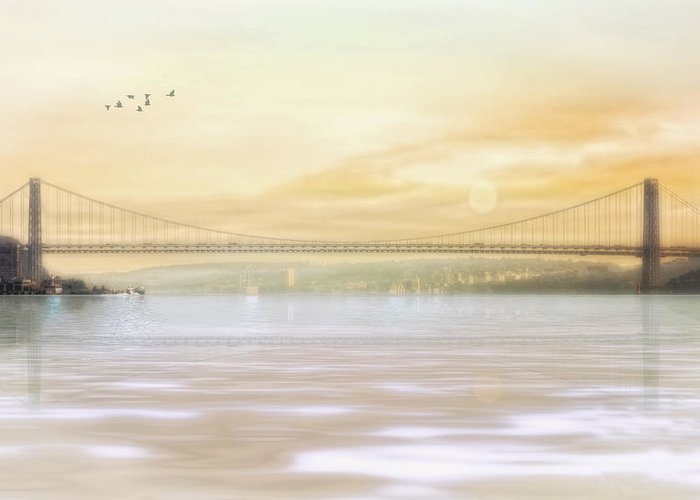 George Washington Bridge Greeting Card featuring the photograph The Bridge by Tom York Images