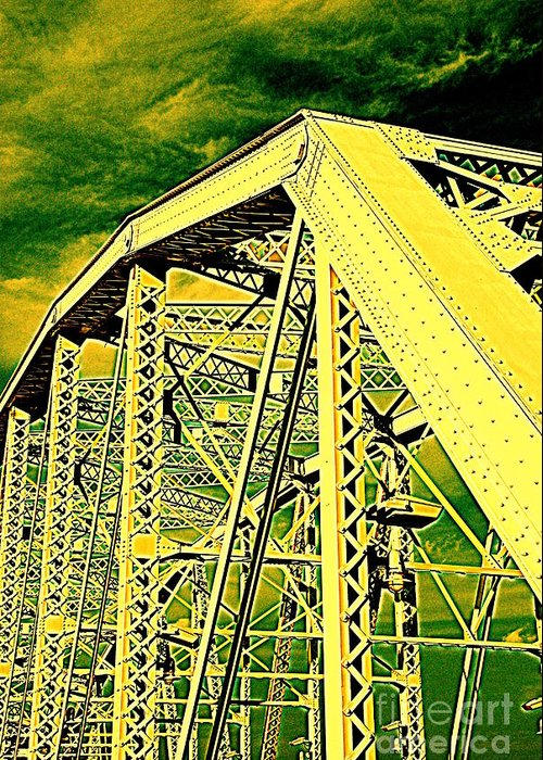 Bridge Greeting Card featuring the photograph The Bridge To The Skies by Susanne Van Hulst