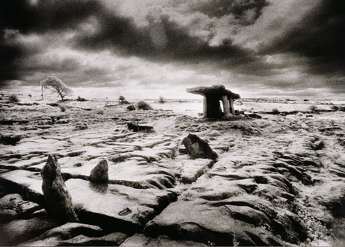 Halloween Greeting Card featuring the photograph The Burren by Simon Marsden