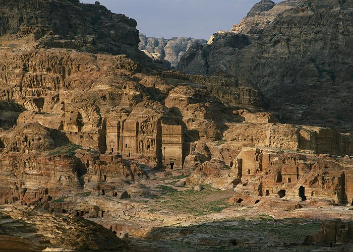 Asia Greeting Card featuring the photograph The Caves And Tombs Of Petra, Shown by Annie Griffiths
