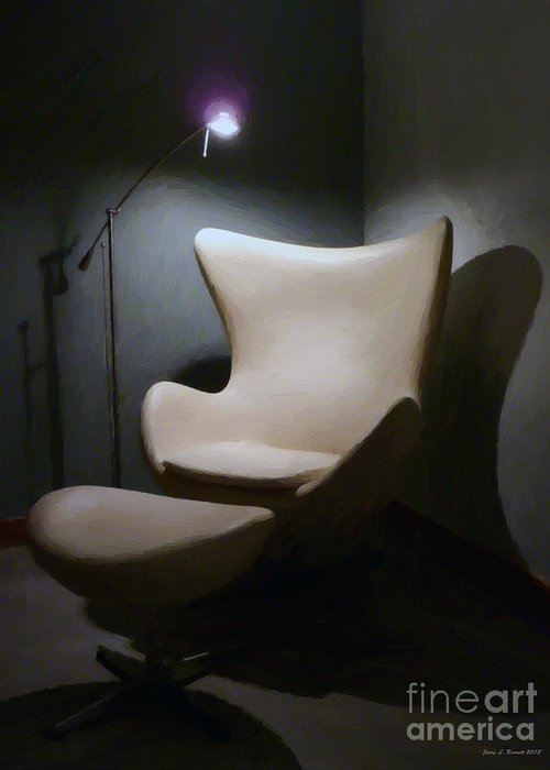 Painting Greeting Card featuring the mixed media The Chair by Jerry L Barrett