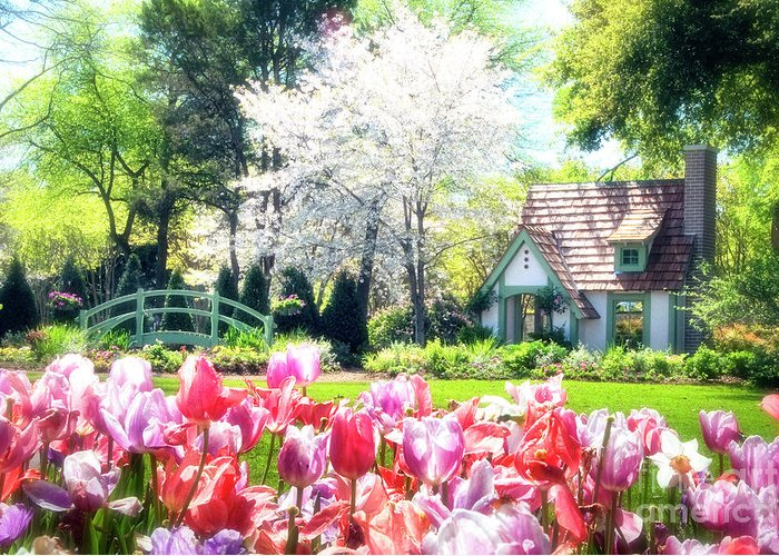 claude Monet Greeting Card featuring the photograph The Claude Monet Small House by Tamyra Ayles