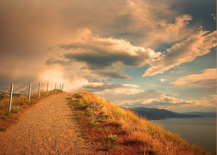 Clouds Greeting Card featuring the photograph The Cloud Path by Tara Turner