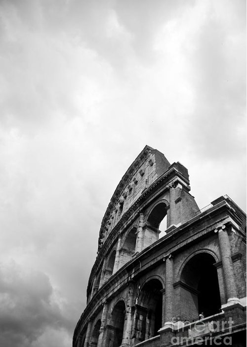 Colosseum Greeting Card featuring the photograph The Colosseum In Rome by Steven Gray