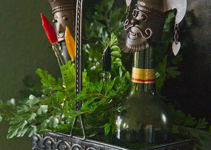 Bottle Greeting Card featuring the photograph The Cork Jester by Michael Flood