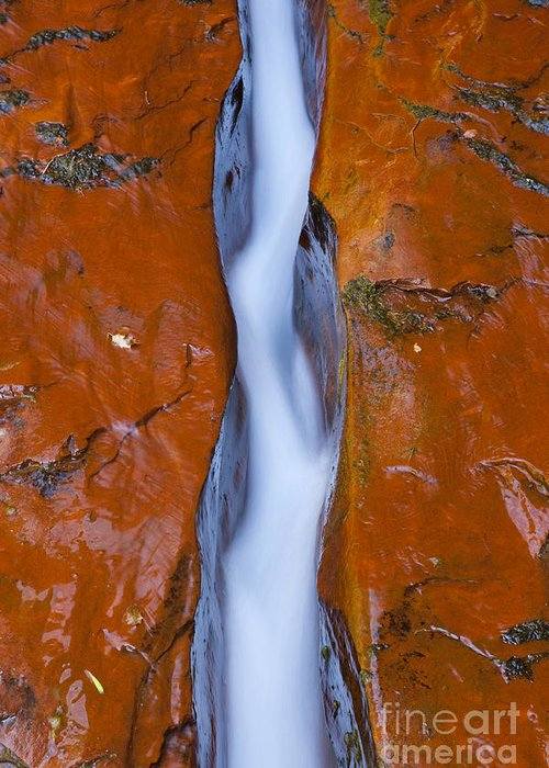 Water Photography Greeting Card featuring the photograph The Crack by Keith Kapple