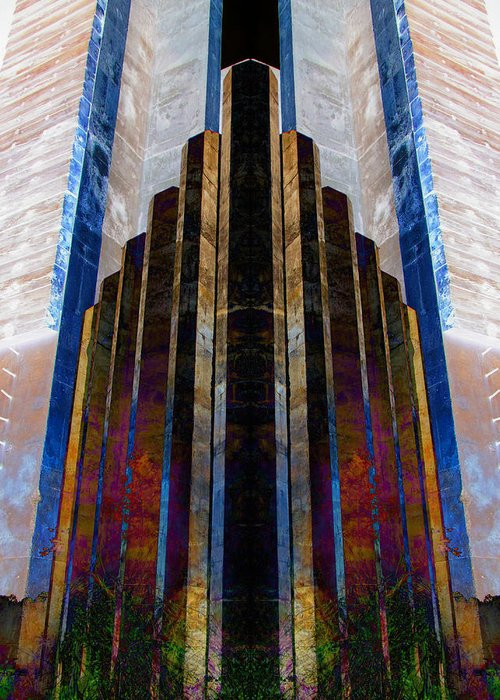Colorblend Greeting Card featuring the photograph The Cube by Michele Caporaso