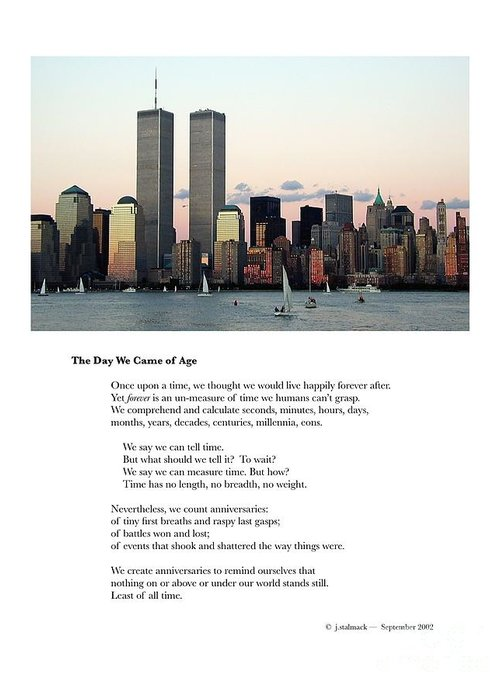 New York City Greeting Card featuring the photograph The Day We Came of Age by Judee Stalmack