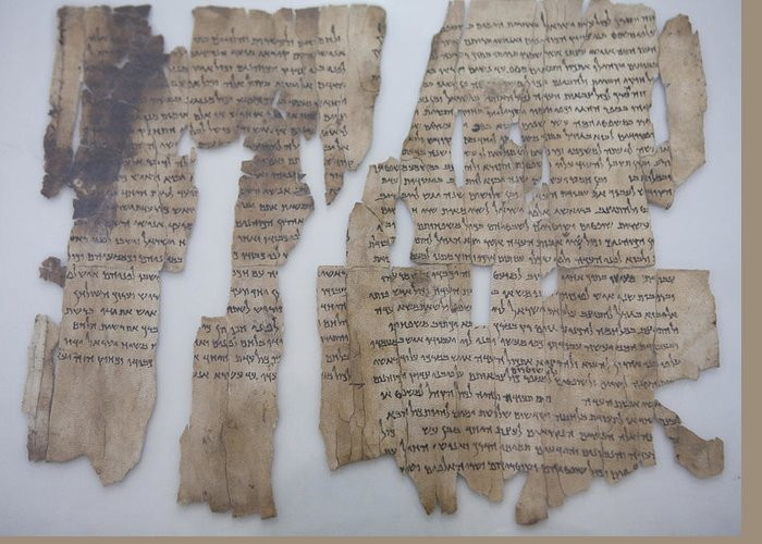 Amman Greeting Card featuring the photograph The Dead Sea Scrolls by Taylor S. Kennedy