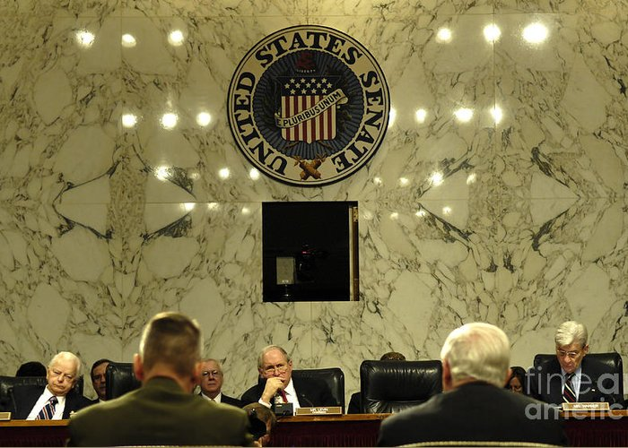 Addressing Greeting Card featuring the photograph The Department Of Defense Address by Stocktrek Images