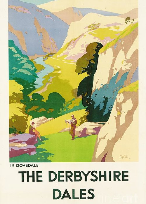 'the Derbyshire Dales' Greeting Card featuring the painting The Derbyshire Dales by Frank Sherwin